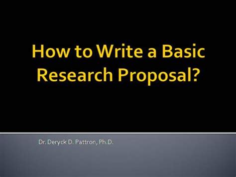 Synopsis for research proposal